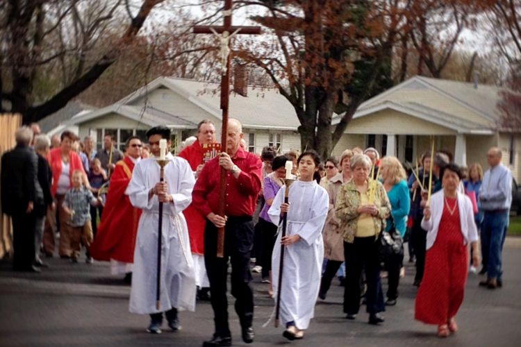 Palm Sunday Procession At St. Thomas The Apostle Catholic Church 2017